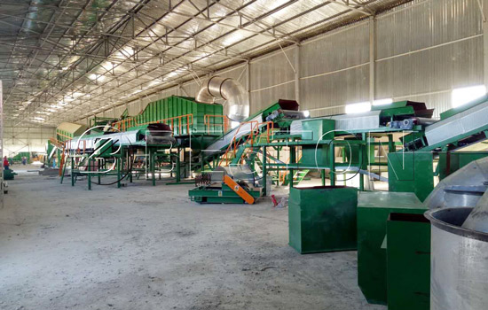 Beston waste sorting plant installation was finished in Uzbekistan
